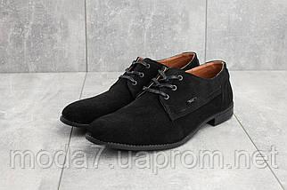 Мужские туфли замшевые весна/осень черные Yuves М111, фото 2