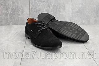 Мужские туфли замшевые весна/осень черные Yuves М111, фото 3