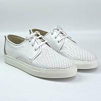 Белые летние кроссовки слипоны кожаные в сеточку мужская обувь больших размеров Rosso Avangard Slip White BS, фото 1