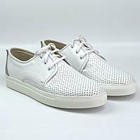 Белые летние кроссовки слипоны кожаные в сеточку мужская обувь больших размеров Rosso Avangard Slip White BS