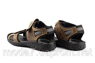 Мужские сандали кожаные летние оливковые Yuves 310, фото 2