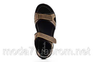 Мужские сандали кожаные летние оливковые Yuves 310, фото 3