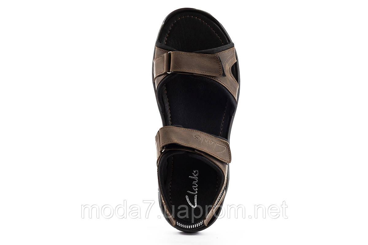 Мужские сандали кожаные летние коричневые Yuves 310