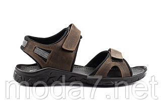 Мужские сандали кожаные летние коричневые Yuves 310, фото 2