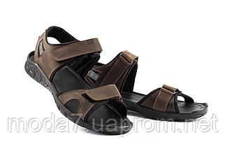 Мужские сандали кожаные летние коричневые Yuves 310, фото 3