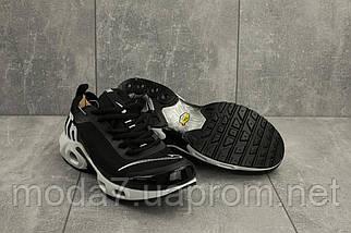 Мужские кроссовки текстильные весна/осень черные-белые Aoka A 730 -7, фото 3
