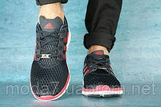 Мужские кроссовки искусственная кожа весна/осень синие Classica 161 -27, фото 3