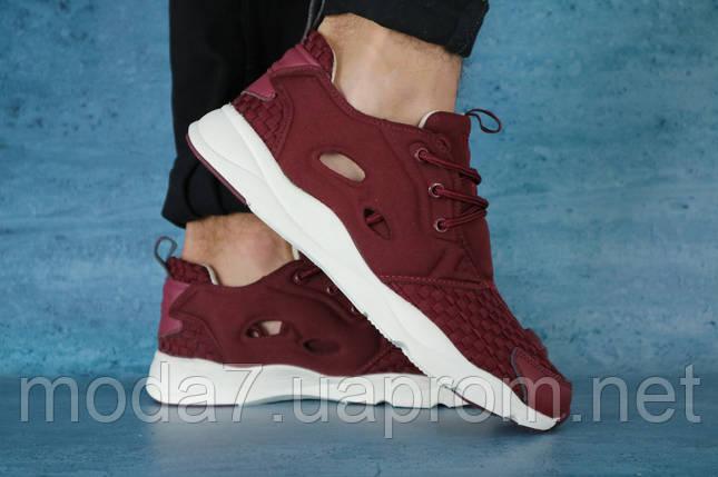 Мужские кроссовки текстильные летние бордовые Classica 931, фото 2