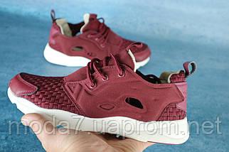 Мужские кроссовки текстильные летние бордовые Classica 931, фото 3