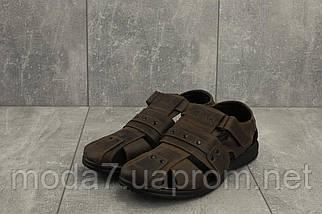 Мужские сандали кожаные летние коричневые Yuves 155, фото 2