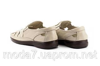 Мужские сандали кожаные летние бежевые Vankristi 1151, фото 3