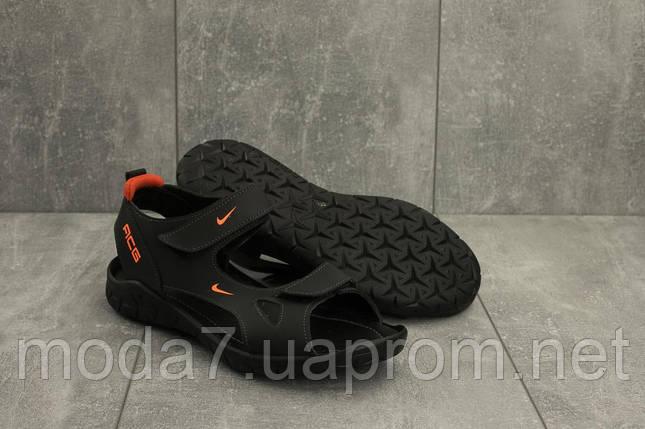 Мужские сандали кожаные летние черные Yuves 311, фото 2