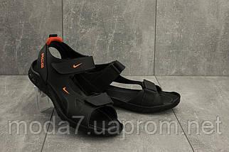 Мужские сандали кожаные летние черные Yuves 311, фото 3