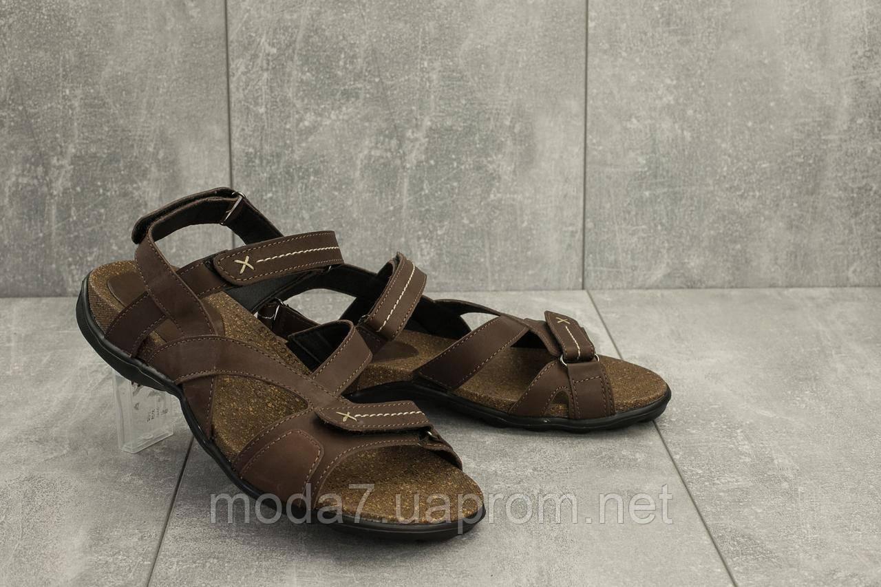Мужские сандали кожаные летние коричневые StepWey 1072