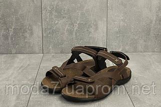 Мужские сандали кожаные летние коричневые StepWey 1072, фото 2