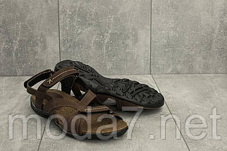 Мужские сандали кожаные летние коричневые StepWey 1072, фото 3