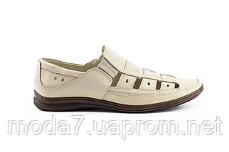 Мужские сандали кожаные летние бежевые Vankristi 1161, фото 2