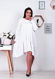 Распродажа! Платье свободного кроя с ассиметричным кроем и длинными рукавами, 42-46 код 1214Х, фото 4