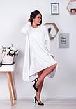 Распродажа! Платье свободного кроя с ассиметричным кроем и длинными рукавами, 42-46 код 1214Х, фото 3