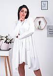 Распродажа! Платье свободного кроя с ассиметричным кроем и длинными рукавами, 42-46 код 1214Х, фото 2