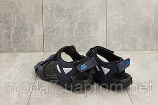 Мужские сандали кожаные летние синие Best Vak Л2-03, фото 3