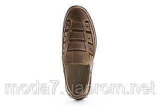 Мужские сандали кожаные летние оливковые Vankristi 1161, фото 2