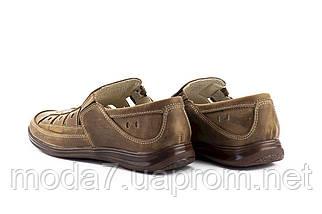 Мужские сандали кожаные летние оливковые Vankristi 1161, фото 3