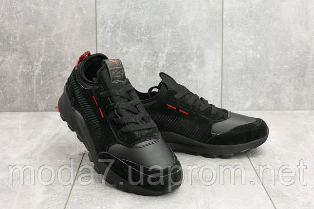 Мужские кроссовки замшевые весна/осень черные Baas A 315 -11, фото 2