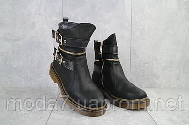 Женские ботинки кожаные зимние черные BENZ 71010