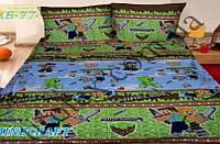 Комплект дитячої постільної білизни Майнкрафт (Комплект детского постельного белья Майнкрафт)