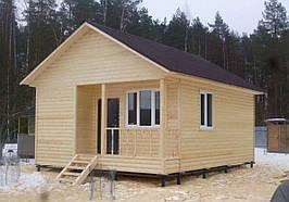 Дом деревянный каркасный 6*6 м