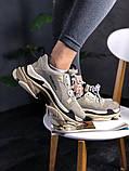 Женские кроссовки Balenciaga Triple S Vanille, женские кроссовки баленсиага трипл с, кроссовки баленсияга, фото 5