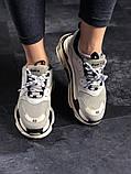 Женские кроссовки Balenciaga Triple S Vanille, женские кроссовки баленсиага трипл с, кроссовки баленсияга, фото 4