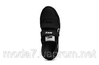 Детские кроссовки кожаные весна/осень черные-белые CrosSAV 40L, фото 2