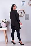 Распродажа! Туника свободного кроя с ассиметричным кроем и длинными рукавами, 48-52,54-58,60-64 код 1215Х, фото 2