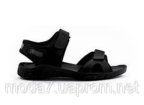 Мужские сандали кожаные летние черные Yuves Tracking 310 ч, фото 2