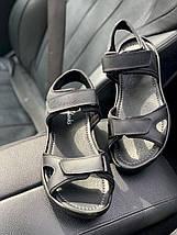 Мужские сандали кожаные летние черные Yuves Tracking 310 ч, фото 3