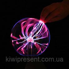 Плазменный шар Теслы, ночник 13 см, Plasma Light Magic Flash Ball, фото 3