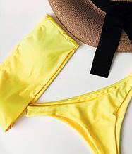 Стильный женский купальник «БАНДО» с чашечкой в топе. Разные цвета!