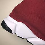 Женские кроссовки Balenciaga Speed Trainer Bordo, кроссовки баленсиага спид тренер баленсиага носки баленсияга, фото 7