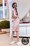 Платье-рубашка на застежках кнопки, накладные карманы и поясок затяжка, 3 цвета р.S, M, L код 2-2243G, фото 6