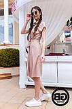 Платье-рубашка на застежках кнопки, накладные карманы и поясок затяжка, 3 цвета р.S, M, L код 2-2243G, фото 7
