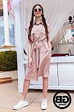 Платье-рубашка на застежках кнопки, накладные карманы и поясок затяжка, 3 цвета р.S, M, L код 2-2243G, фото 5