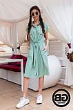 Платье-рубашка на застежках кнопки, накладные карманы и поясок затяжка, 3 цвета р.S, M, L код 2-2243G, фото 2