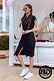 Платье-рубашка на застежках кнопки, накладные карманы и поясок затяжка, 3 цвета р.S, M, L код 2-2243G, фото 9