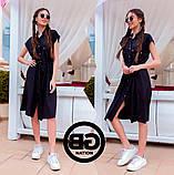 Платье-рубашка на застежках кнопки, накладные карманы и поясок затяжка, 3 цвета р.S, M, L код 2-2243G, фото 8