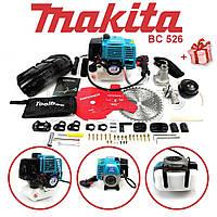 "Мотокоса Makita BC 526 (4.6 кВт, 2х тактный) Бензокоса Макита, кусторез, триммер комплектация ""ЭКО"""