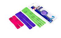 Кинезио тейп преднарезанный WRIST (Kinesio tape) эластичный пластырь (тип V-15см, Ш-18см, X-10см)