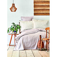 Комплект постельного белья с покрывалом Pike jacquard 200*240 TM Karaca Home Fois  lila, фото 1