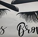 Наклейка на стену Brows and Lashes 2 (брови и реснички, наклейка в кабинет красоты), фото 7